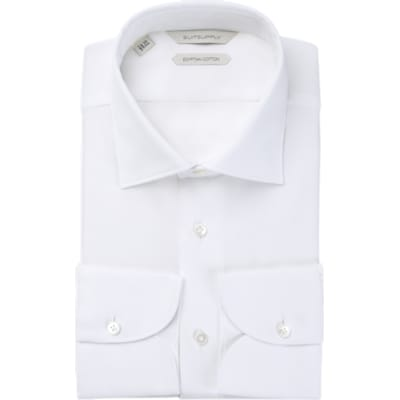 White_Plain_Shirt_Single_Cuff_H5655U