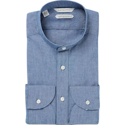 Blue_Plain_Shirt_Rounded_HB_Cuff_H5709U