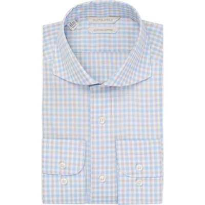 Blue_Check_Shirt_Single_Cuff_H5715U