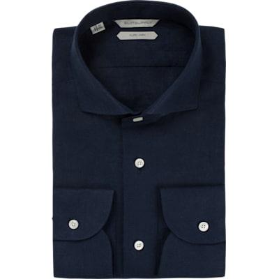 Navy_Plain_Shirt_Rounded_HB_Cuff_H5724U