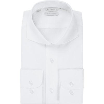 White_Plain_Shirt_Single_Cuff_H5751U