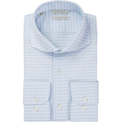 Light_Blue_Check_Shirt_Single_Cuff_H5763U