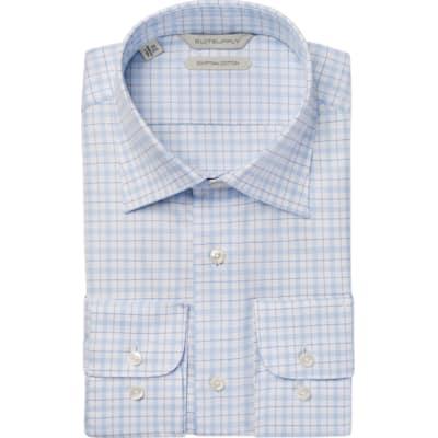 Light_Blue_Check_Shirt_Single_Cuff_H5765U