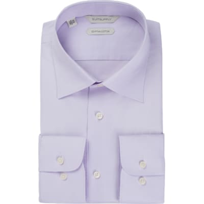 Lilac_Plain_Shirt_Single_Cuff_H5770U