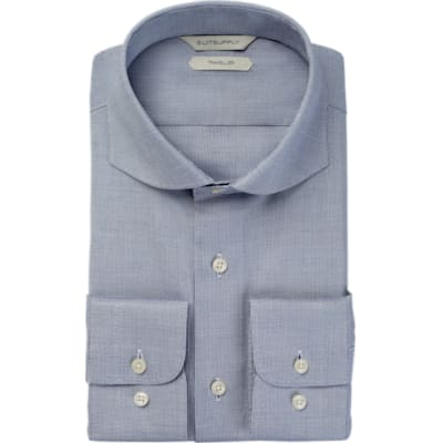 Blue_Faux_Uni_Traveller_Shirt_Single_Cuff_H9013U