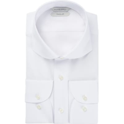 White_Plain_Traveller_Shirt_Single_Cuff_H9017U