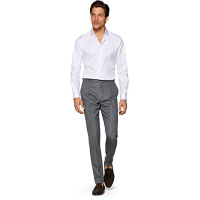 White_Plain_Shirt_Single_Cuff_H9090U