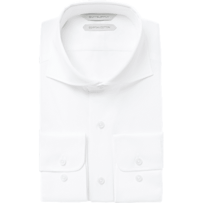 White_Plain_Shirt_Single_Cuff_H9094U