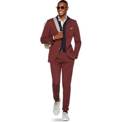 Havana Red Plain Suit