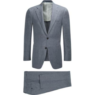 Havana Blue Plain Suit