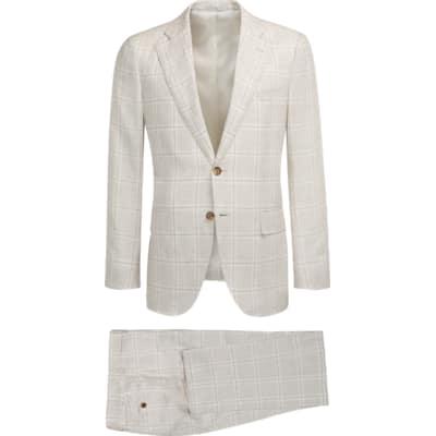 Suit_Light_Brown_Check_Lazio_P5183I