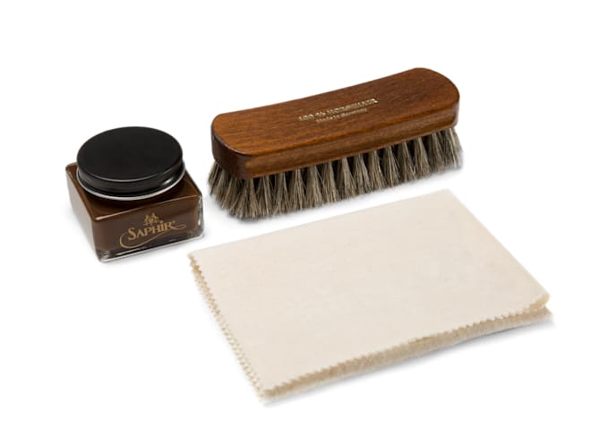 Shoe Polish Set Brown