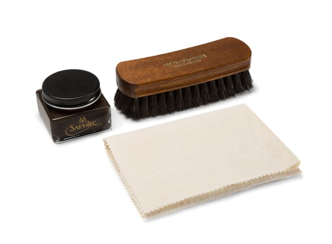 Shoe Polish Set Dark Brown