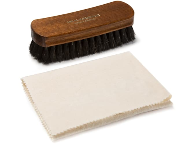 Shoe Brush & Cloth Set Black