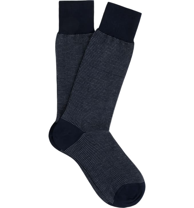 Blue Regular Socks