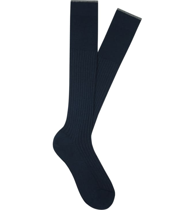 Navy Jort Socks Knee high