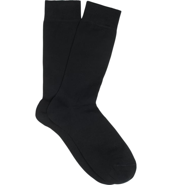 Black Regular Socks