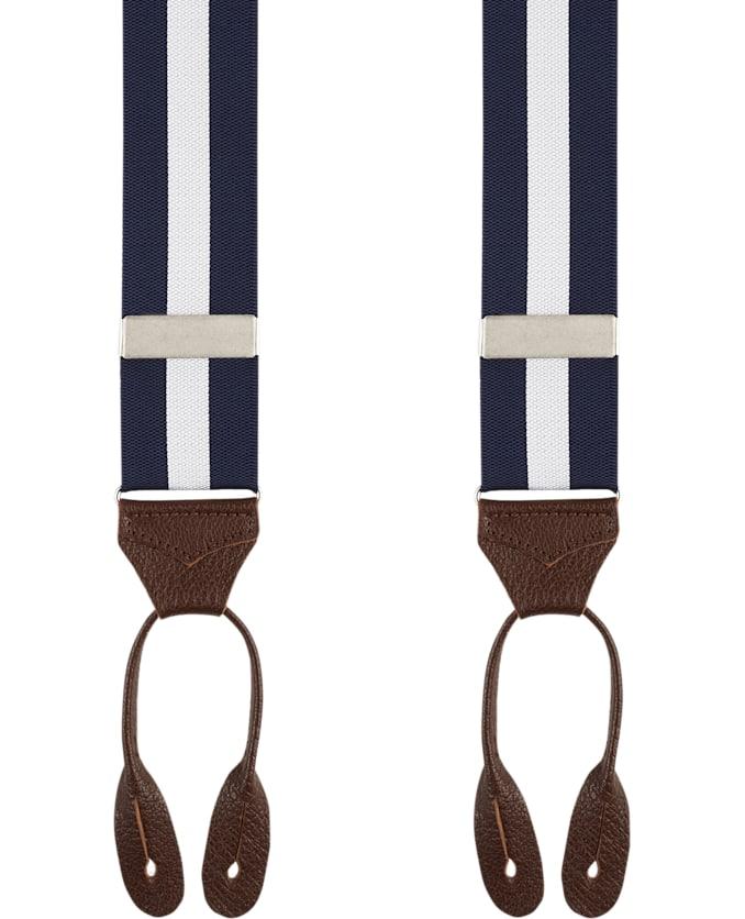 Navy Jort Suspenders