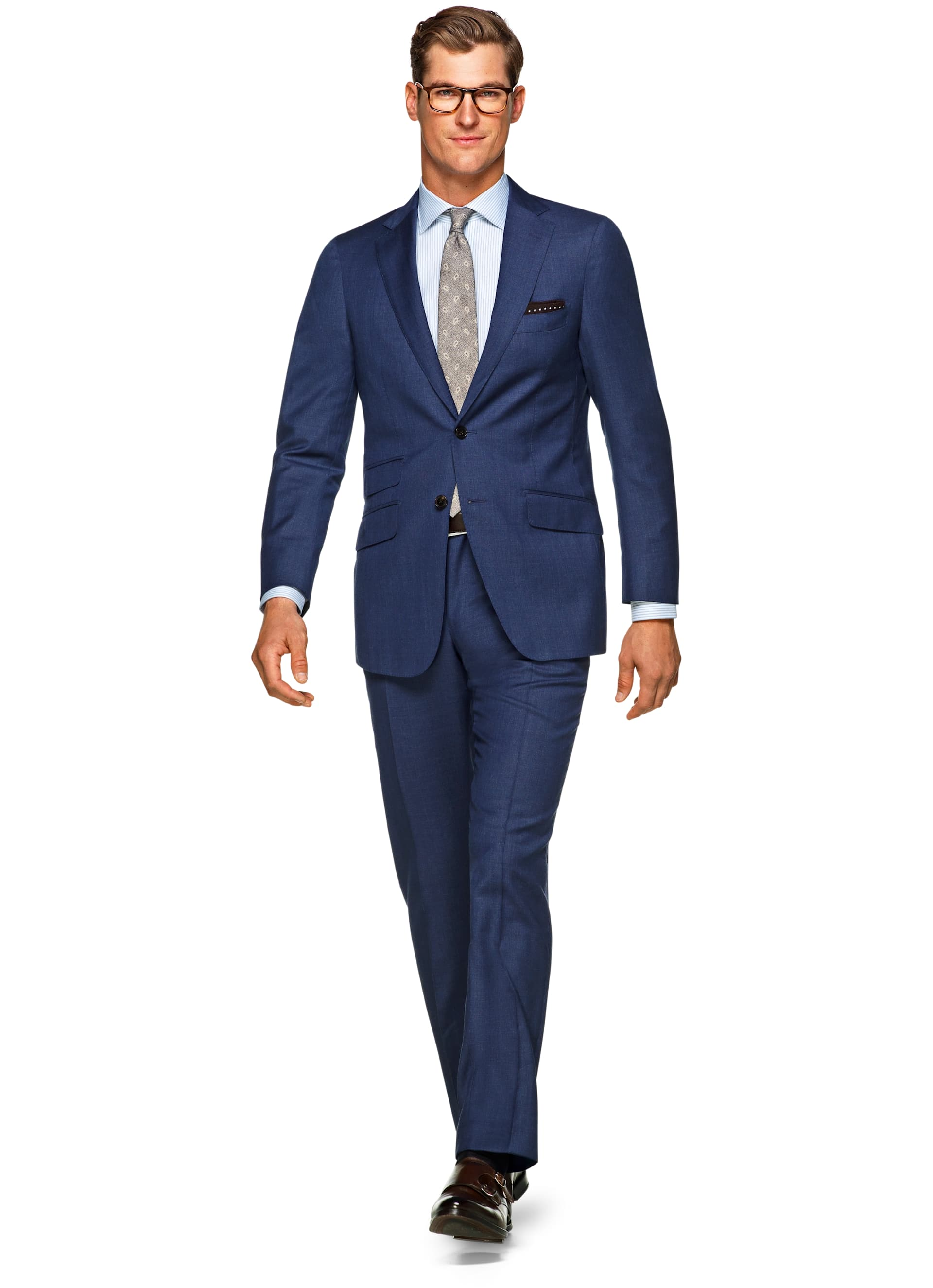 Traje Azul Liso Sienna P4843i | Suitsupply Online Store