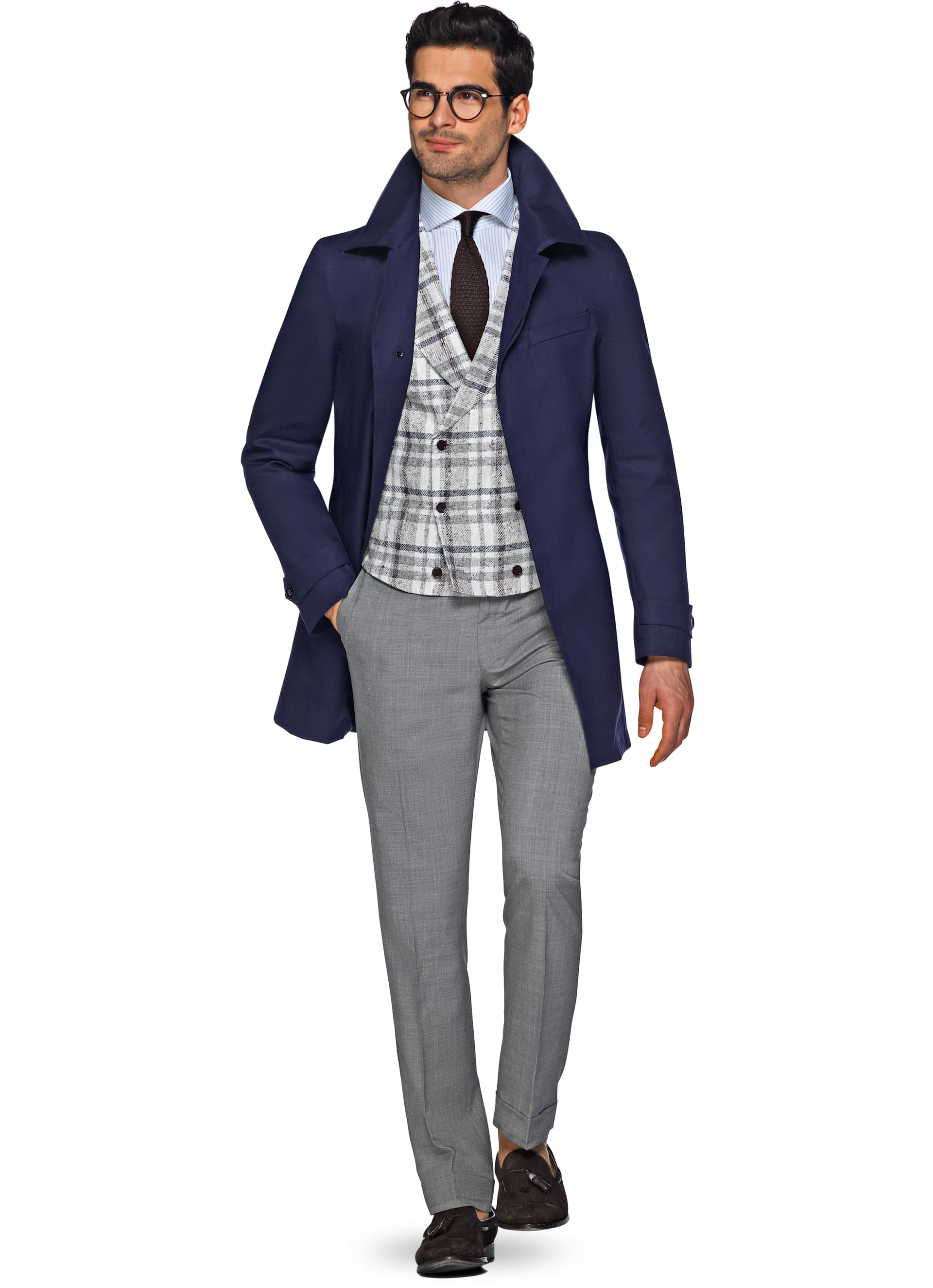 Navy Raincoat J431i | Suitsupply Online Store