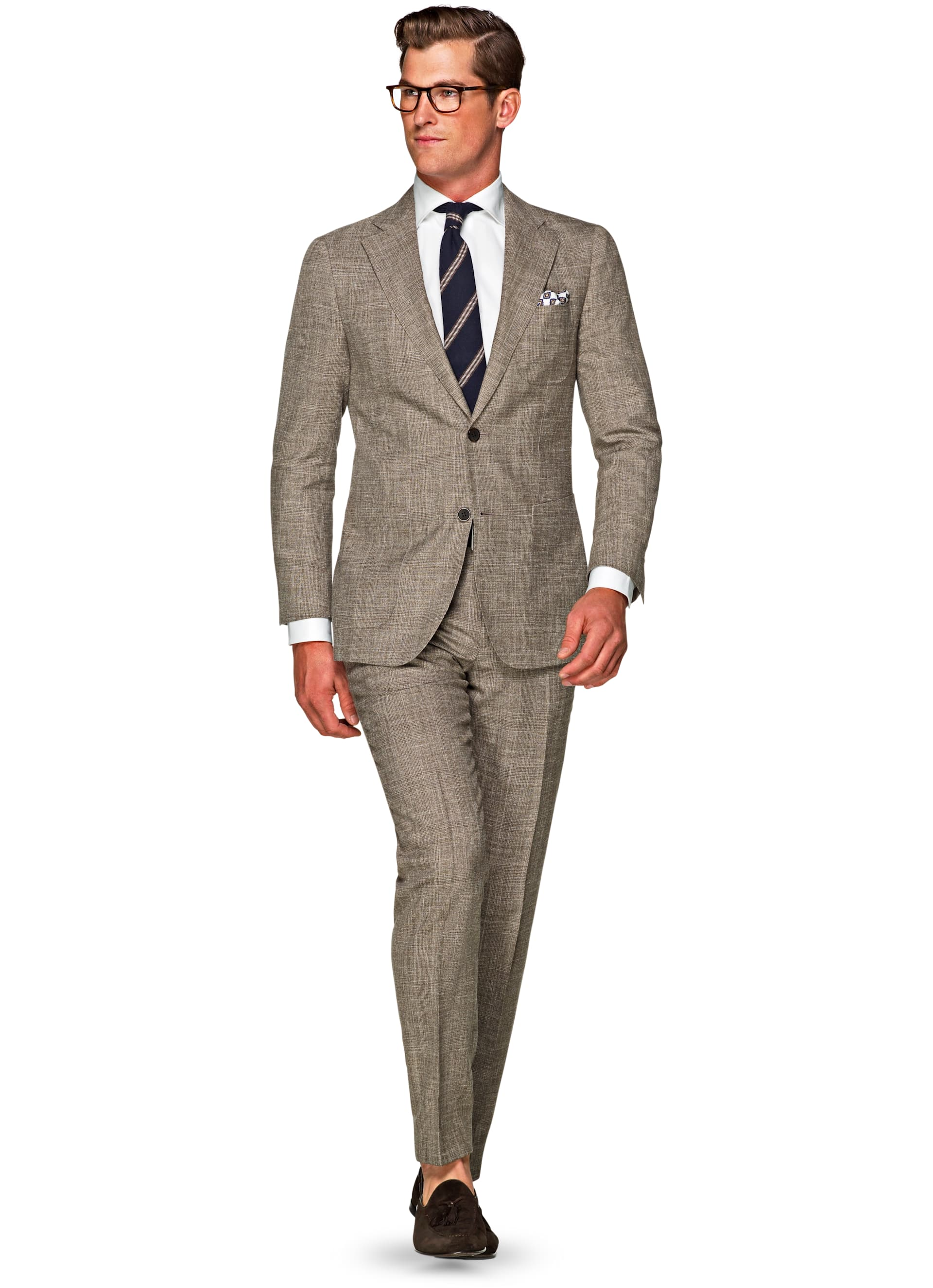 Suit Brown Check Havana P5131 | Suitsupply Online Store
