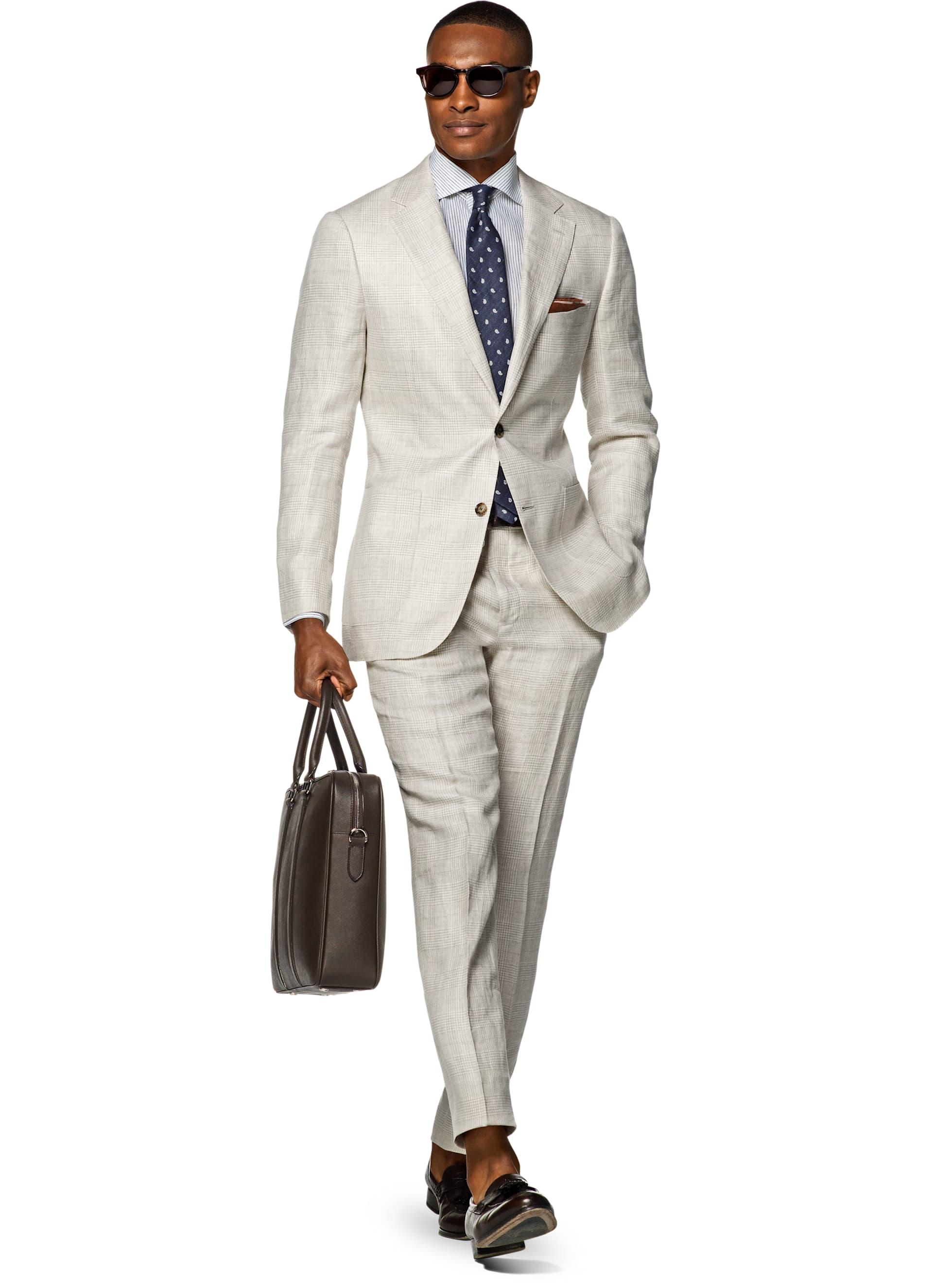 Suit Brown Check Havana P5155i | Suitsupply Online Store