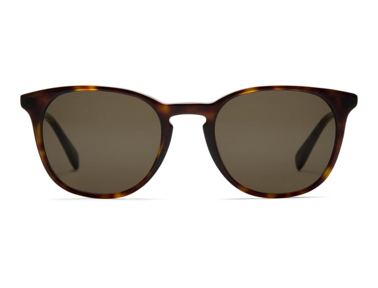 Dark Brown Round Sunglasses