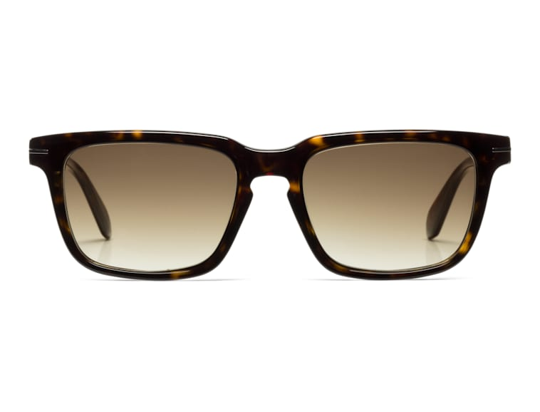 Dark Brown Square Sunglasses
