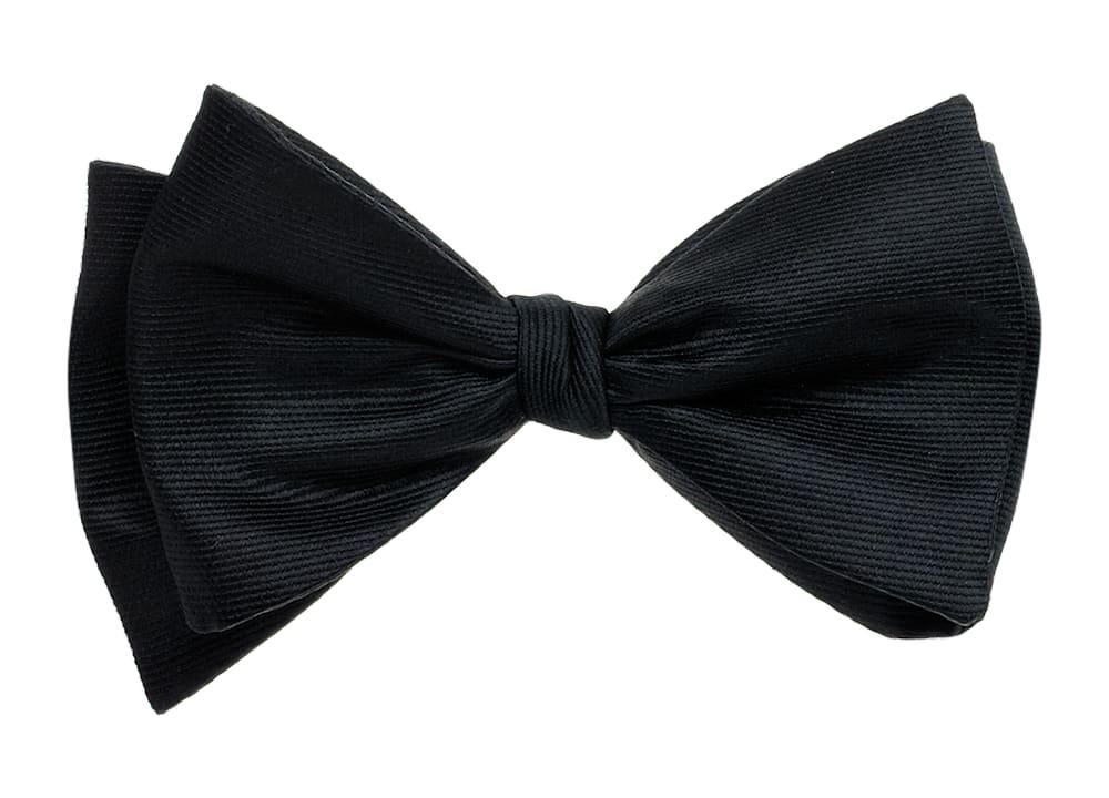 Black Self-tie Bow Tie