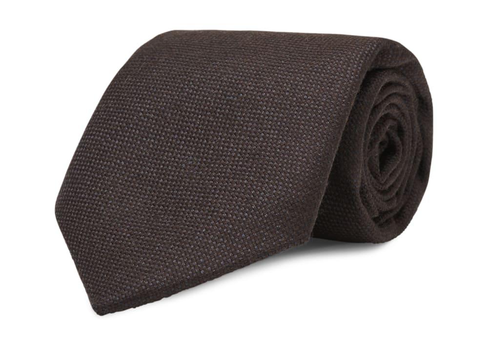 Brown 7-fold Jort Tie