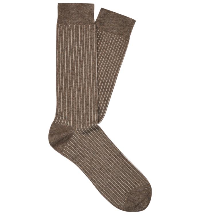 Brown Regular Socks