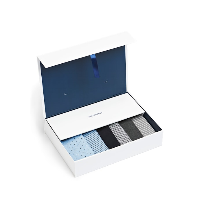 Blue and Grey Regular Socks