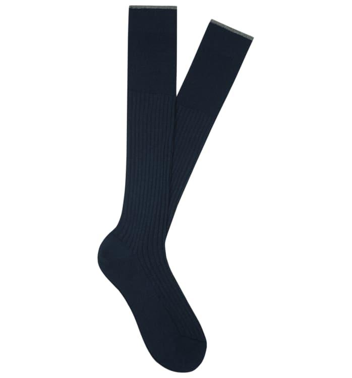 Navy Jort Socks Knee high