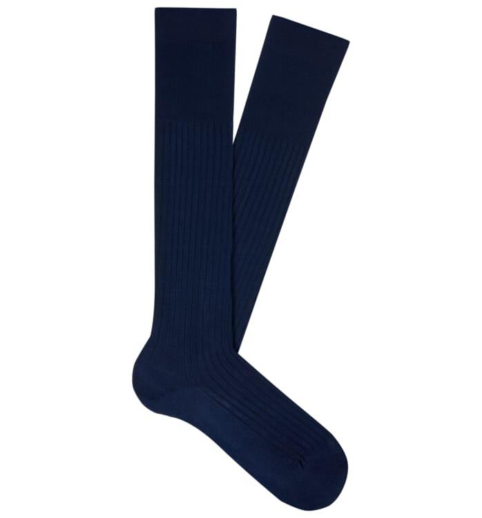 Navy Knee high Socks