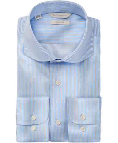 Blue Stripe Traveller Shirt