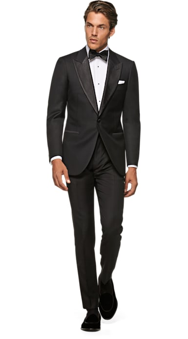 Lazio Black Plain Tuxedo Jacket
