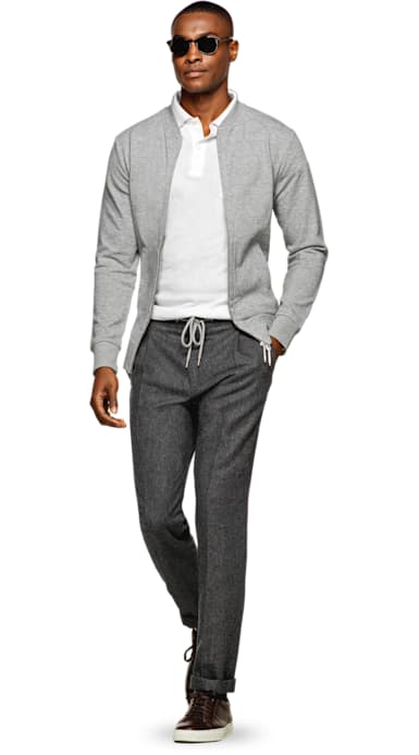 Light Grey Zip Cardigan