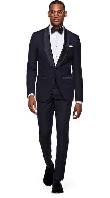 Havana Blue Plain Tuxedo