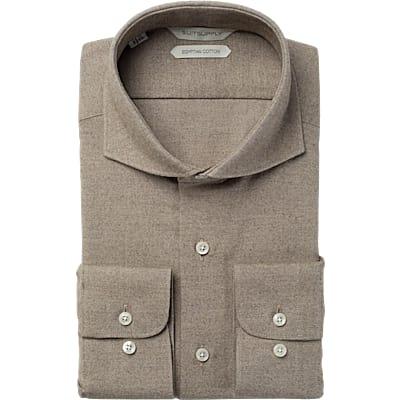 Brown_Plain_Shirt_Single_Cuff_H5627U