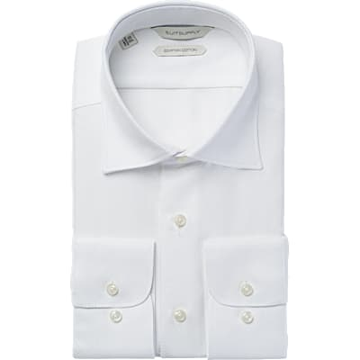 White_Plain_Shirt_Single_Cuff_H5637U