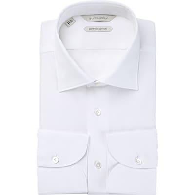 White_Plain_Shirt_Single_Cuff_H5655U