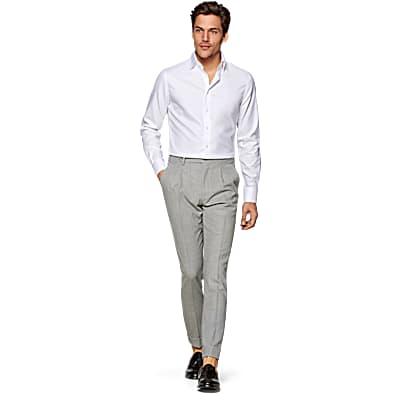 White_Plain_Traveller_Shirt_Single_Cuff_H9002U