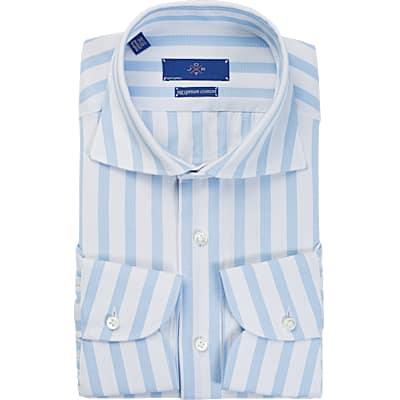 Jort_Blue_Stripe_Shirt_Single_Cuff_SH091-J