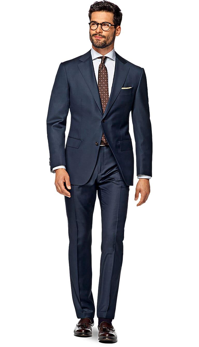 Suit Blue Plain Napoli P4119i