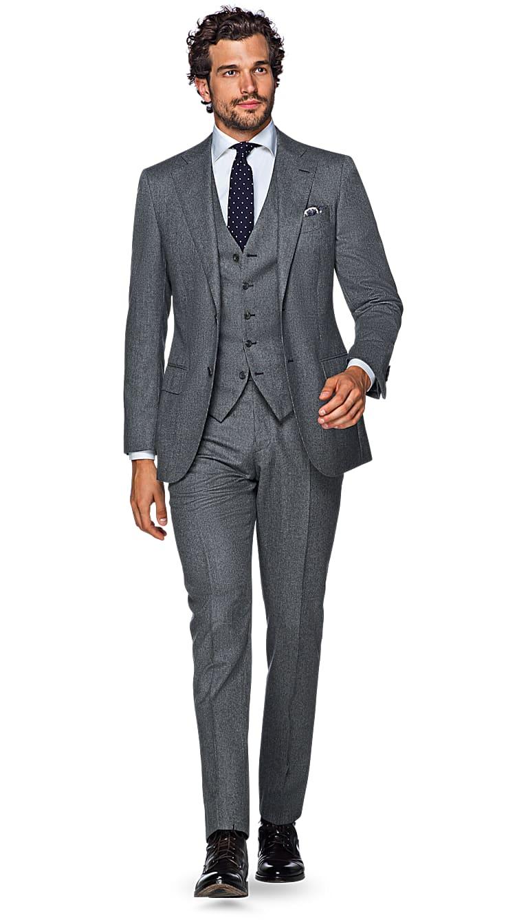 Suit Grey Stripe Lazio P4954i
