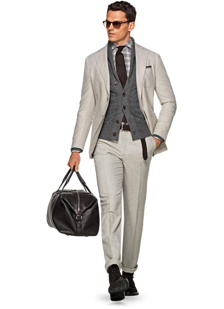 Havana Light Brown Plain Suit