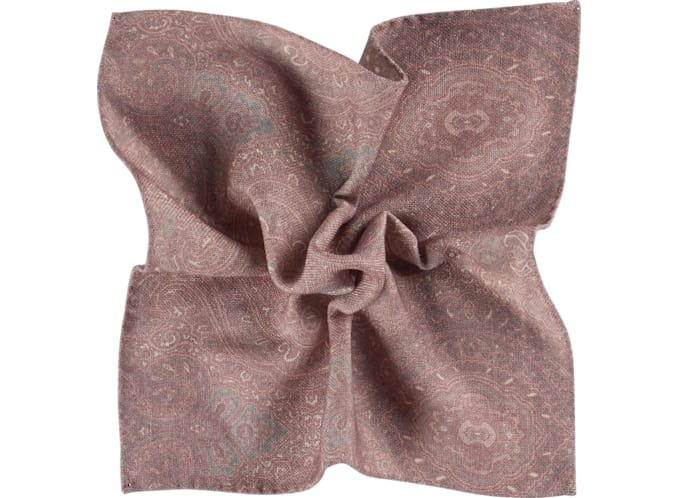 Pink Pocket Square Double Sided