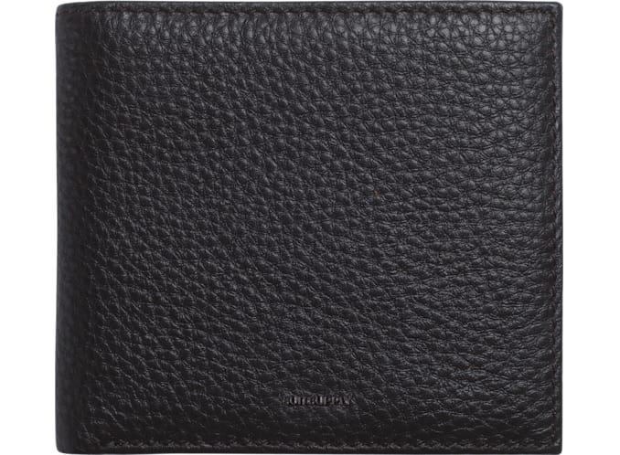Dark Brown Billfold Wallet + Tile
