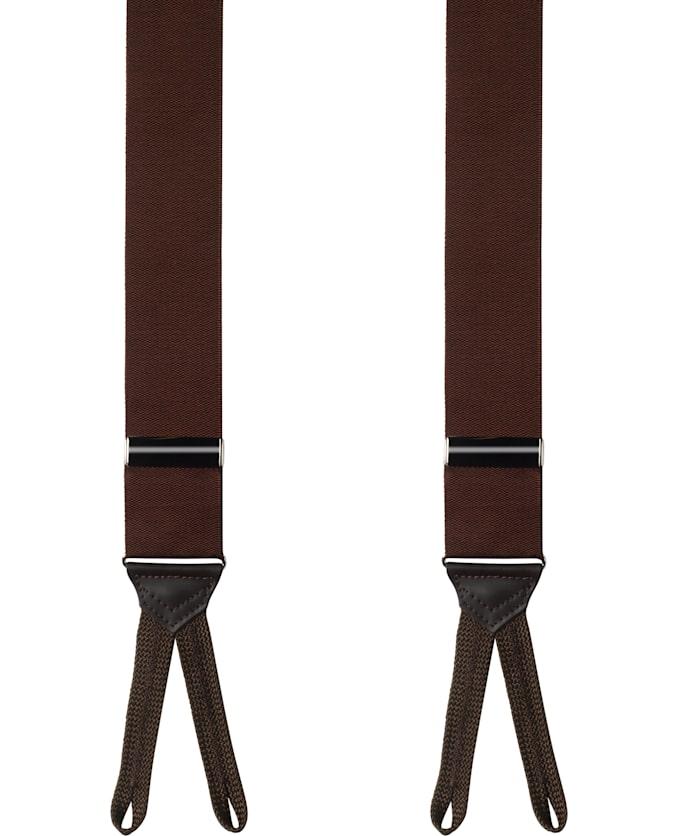 Brown Jort Suspenders