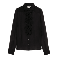 Anise_Black__Silk_Ruffle_Shirt_LS0099